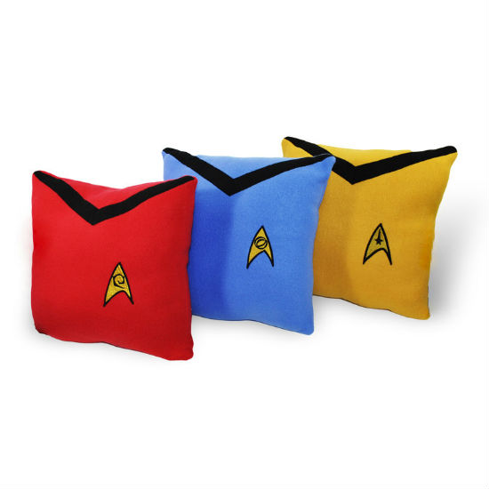 star trek throw pillow set