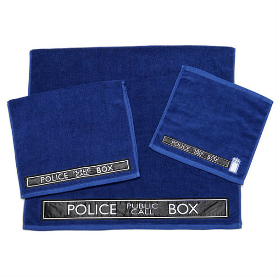 tardis bath towel set