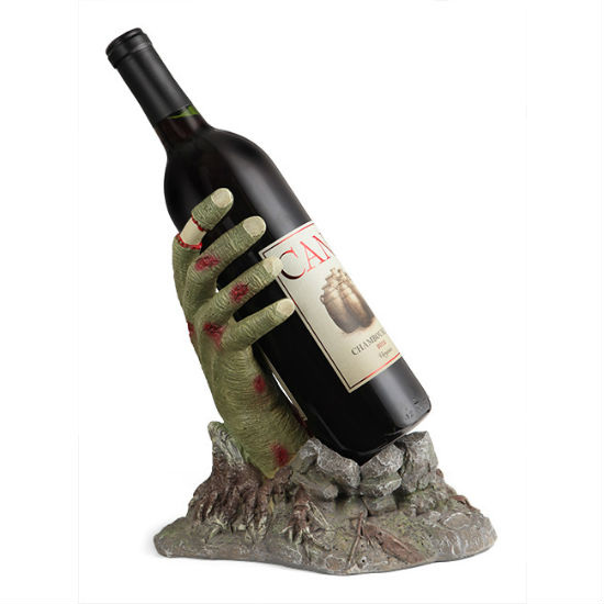 zombie hand wine bottle