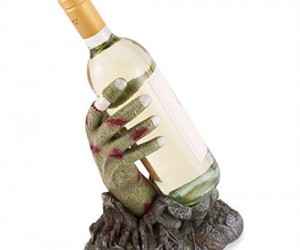 Raise the dead, and a glass to this Zombie hand wine bottle holder