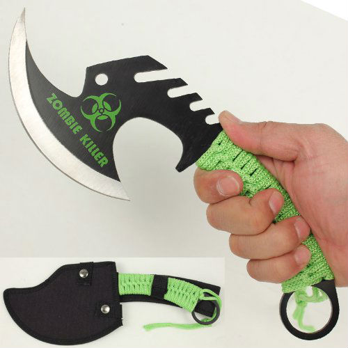 zombie killer throwing axe