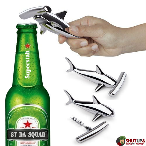 hammerhead shark bottle opener