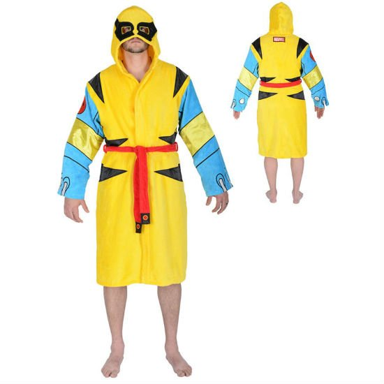 wolverine hooded bathrobe
