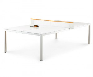 Transform your boring old conference table into a ping pong table!