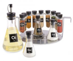 Chemist's Spice Rack – Finally something that combines your love of cooking and chemistry.