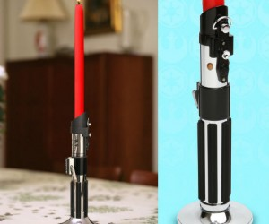 Star Wars Lightsaber Candlestick Holder – The perfect centerpiece for dinner on Dagobah.