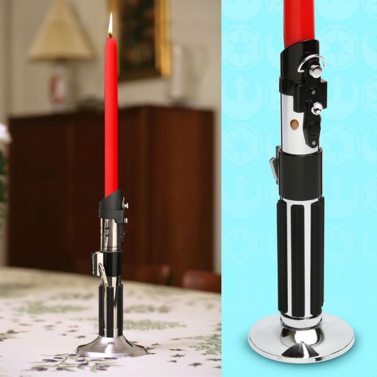 lightsaber candlestick holder