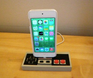 Nintendo Controller iPhone Dock – Powered by sweet 80′s nostalgia.