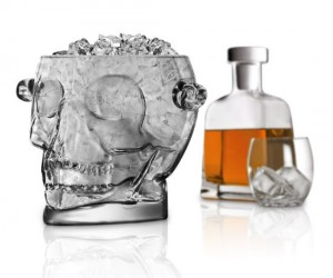 This skull's brain freeze is just what you need to chill your drink!
