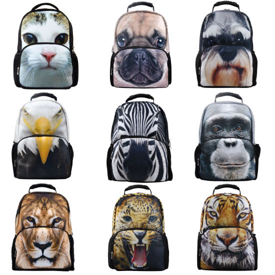 big face animal backpacks