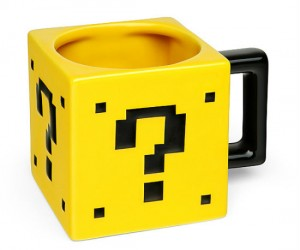Super Mario Power Up Block Mug – Perfect for powering you up every morning!