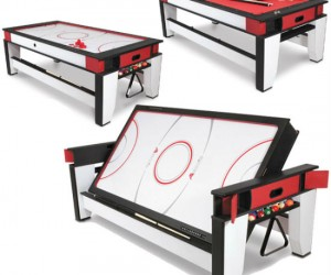 Who says you don't have room for an air hockey and a billiards table?