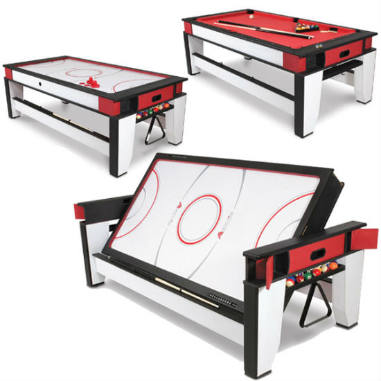 rotating air hockey to billiards table