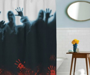 Watch out! There's a herd of zombies in your shower!