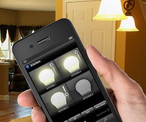 Turning on your lights, yep, there's an app for that!