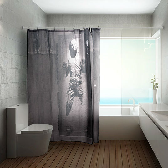 Star wars han solo in carbonite shower curtain be careful the
