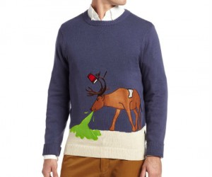 The only ugly Christmas sweater that depicts what you'll feel like the morning after the Holiday office party.