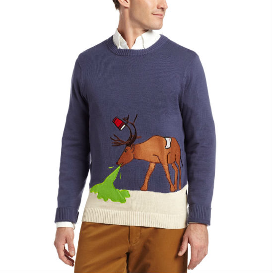 hungover hangover deer ugly christmas sweater