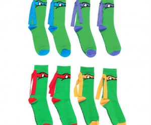 Ninja Turtle Mask Socks – These socks are totally radical!