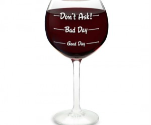 How was your day? Wine Glass – The perfect way to let family and friends know exactly how your day was.