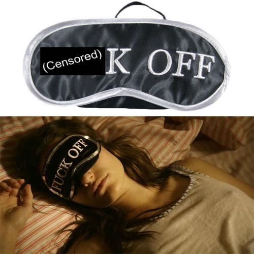 fuck off sleep eye mask