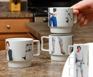 Star Wars Stackable Mugs - Kind of like when Chewy tried to put C-3PO back together…