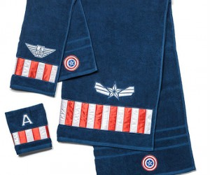 Captain America Towel Set – Perfect for drying off after a long freeze!