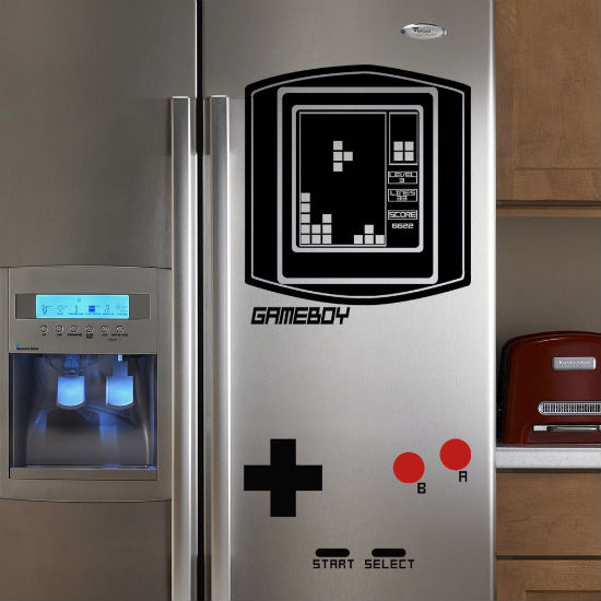 tetris gameboy fridge decal