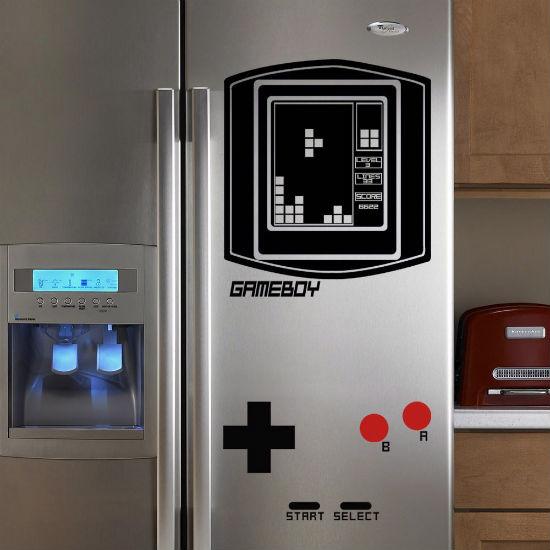 tetris gameboy fridge decal