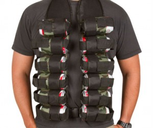 Beer Belt Bandolier – For when you want to comfortably and stylishly carry around a 12 pack of beer wherever you go.