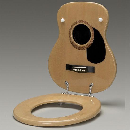 guitar toilet seat