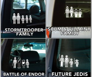 Star Wars Family Car Decals – Family stickers from a galaxy far far away.