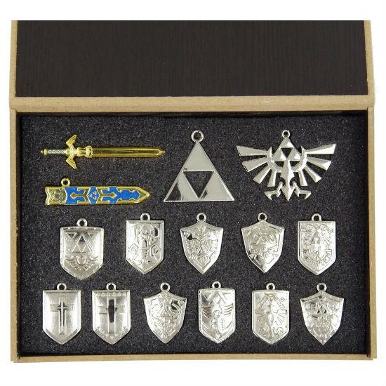 Silver legend of zelda pendant set