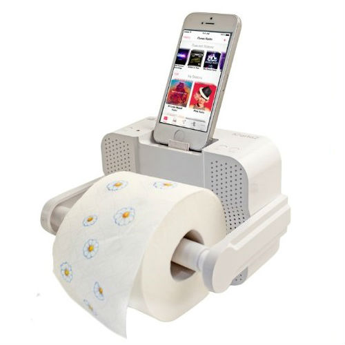 Bluetooth Iphone Stereo Toilet Paper Holder