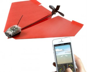 Turns any paper airplane into an R.C. plane!!!