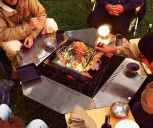 Just sit around the firering table and have fresh kobe steak hot off the grill!