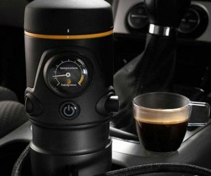 Have a fresh brewed espresso wherever you travel with this handpress that plugs in 12 volt!