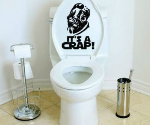 Add a little giggle in your go with the It's A Crap! toilet decal!