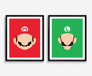 Mario & Luigi now in minimalist form!