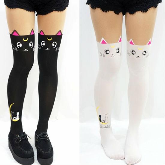 sailor moon luna and artemis cat stockings