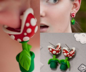 Piranha Plant Earrings – Mind if I nibble on your earlobe?