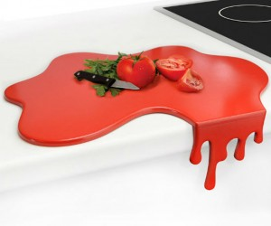 As suspicious as it looks, it's actually just a cutting board.