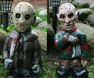 From your worst nightmares to your flowerbed, these masked murders will be sure to keep those damn kids off your lawn.