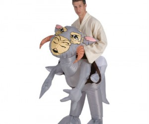 Inflatable Tauntaun riding costume – Just hope you don't have to cut it open and sleep inside.