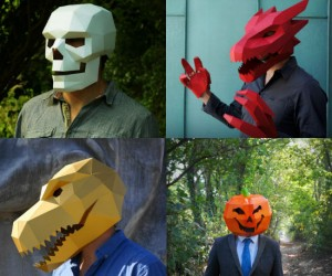 Fancy building your own Halloween costume? Well then these masks are for you!
