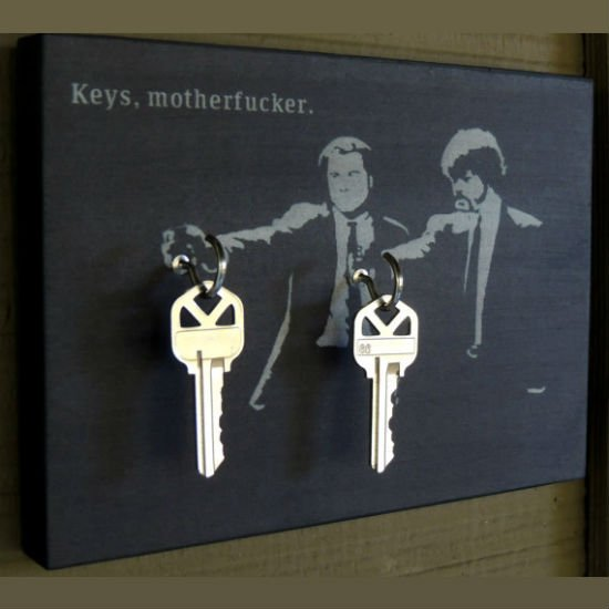 pulp fiction key holder