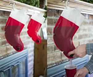 Santa's Stocking Flask -Please hang responsibly.