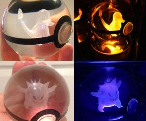 These custom crystal pokeballs will be sure to amaze fans young and old!