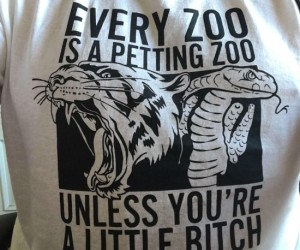 Every zoo is a petting zoo unless you're a little bitch!
