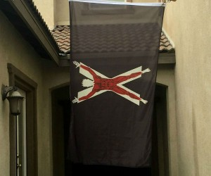 "GoT House Bolton Flayed Man Banner Flag – ""Our blades are sharp"""